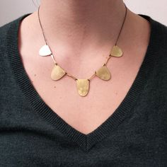Brass necklace from Fail Jewelry - holiday gift guide