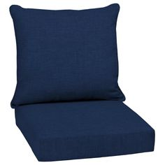 Arden Selections Sapphire Leala Texture Deep Seat Patio Chair Cushion at Lowe's. The Arden Selections Outdoor Deep Seat Cushion Set is a great way to update your outdoor conversational furniture with beautiful pattern and comfort, Patio Furniture Cushions, Patio Chairs, Cushions On Sofa, Outdoor Furniture, Cushions Online, Porch Furniture, Desk Chairs, Vintage Furniture, Outdoor Deep Seat Cushions