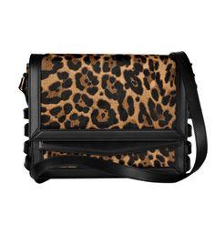 2013 Christian Louboutin Farida Leopard-Print Calf Hair Shoulder Bag
