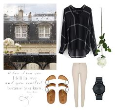 """""""I want to go back in time"""" by pukalanigirl ❤ liked on Polyvore featuring Chicwish, Laura Cole, Movado, River Island, Birkenstock, women's clothing, women's fashion, women, female and woman"""