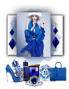 """Blue days #1."" by babysnail ❤ liked on Polyvore featuring Dolce&Gabbana, Yves Saint Laurent, Christian Dior, Casadei, Kobelli and Marie Hélène de Taillac"