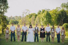 Bridal party - rustic wedding, plus size bride