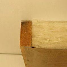 Alternative method of stapling fiberglass, not usually done.