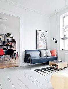 Home with red accents - via cocolapinedesign.com