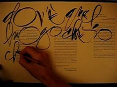 """From """"letterarte"""" via YouTube - a demonstration of polyrhythmic calligraphy with the ruling pen."""
