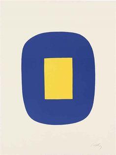 Ellsworth Kelly, Blue and Yellow