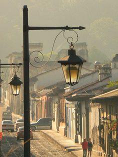 Guatemala Street Scene   La Antigua home of Finca Filadelfia, Cafetenango, Pergaminos, Pergola de la Montaña