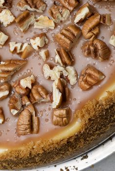 Pecan and Salted Caramel Cheesecake Recipe by bakeorbreak