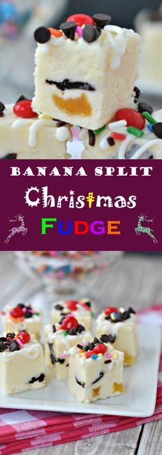 Food is the best way to express one's feelings. Christmas time is an overflow of such feelings. This fudge is so wonderful! What a great way to get banana splits in the mix without having to down an actual banana split. This way is much more fun!