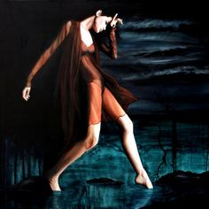 Luna Triste Anhelo      woman paintings, women paintings, portrait paintings, female paintings, emotion paintings, woman canvas prints, women canvas prints, portrait canvas prints, female canvas prints, emotion canvas prints sensual sexy art sad depression