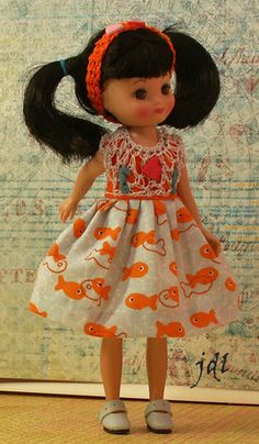 """Handmade outfit for tiny 8"""" Betsy McCall jdldollclothes.com"""