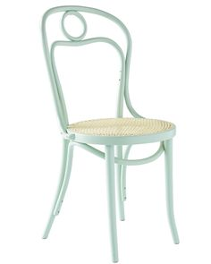 The classic bentwood Thonet chair gets a modern update with a splash of our signature colours. Crafted by heating and bending beechwood into gracefully strong shapes, this fashionable silhouette has long been a favorite among artists (Picasso is said to have kept one in his studio). Handwoven rattan seats bring a beachy vibe. Each piece is stamped with the Fameg factory name – a coveted mark of authentication.