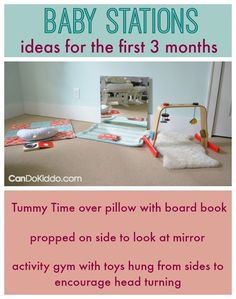 Baby Stations - keep baby busy and happy while you get more done. CanDo Kiddo