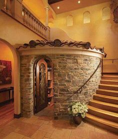Wine cellar, love this idea.