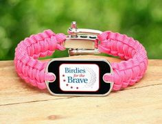 Birdies for the Brave light duty bracelet in beautiful pink coral