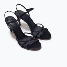 fe95a9d3f555 ZARA - SALE - HIGH-HEEL STRAPPY SANDAL Women s Shoes Sandals