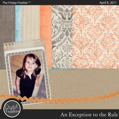 An Exception to the Rule - Digital Scrapbooking Freebie