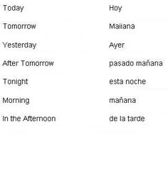 Spanish Words for Times of Day - Learn Spanish #learning #spanish