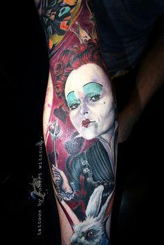 Tatuagens de alice no pa s das maravilhas tatuagem de for Red queen tattoo