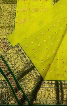 Yellow Handloom Chanderi Pure Katan Silk Saree #Chanderisaree#saree#sareeindia#traditionallook#sareefashion#indianculture#desilook#loveforsaree#tissuesaree#katansilk#