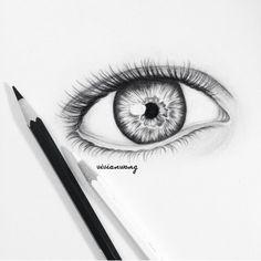 Eye drawing by Vivian Wong