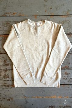 c5a9237c Velva Sheen Crew Neck Sweatshirt Heather Grey Cotton Fleece