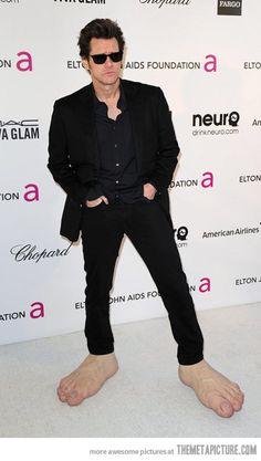 Jim Carrey being Jim Carrey…
