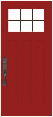 Dreaming of a new red front door? How about a Craftsman-style door from Pella? Visit www.Pella.com.  #red door