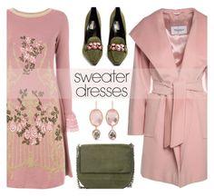 """#sweaterdresses"" by rasa-j ❤ liked on Polyvore featuring Alberta Ferretti, MaxMara, Fabrizio Viti, Larkspur & Hawk, Gvyn, womensFashion and sweaterdresses"