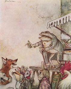 Arthur Rackham - Aesop's Fables - The Quack Frog