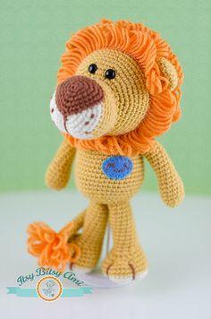 Mr. Nich, The Lion by ItsyBitsyAmi, amigurumi crocheted toy