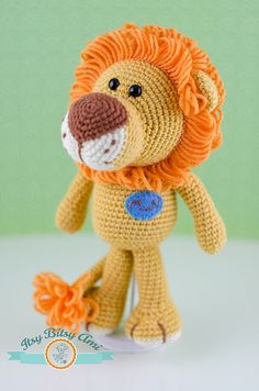 Mr. Nich, The Lion by ItsyBitsyAmi, amigurumi crocheted toy