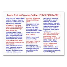 Sulfite-Free Shopper's Guide - Chubby Card Business Cards