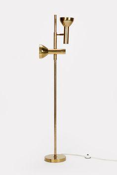 Brass Floor Lamp Spots Staff Germany