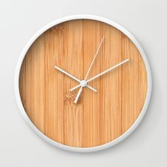 Bamboo wood print Wall Clock by #PLdesign #bamboo