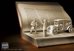 """book art """"Stop right there!"""" Put me up, put em up!"""