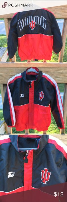 🆕 Listing! IU Starter Jacket! EUC! A must have for any Hoosier fan! Size tag is cut (weird) although other tags are in tact. I believe it it a 5/6. Starter Jackets & Coats