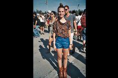 [Lollapalooza Chile]Short + botas: look boho. Foto:Francisca Oyhanarte