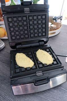 Gaufres de pommes de terre au jambon | Ma p'tite cuisine