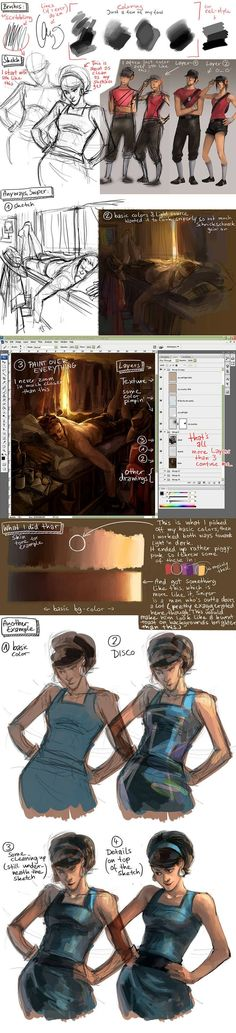 Drawing tutorial simple character design 55 New ideas Digital Painting Tutorials, Digital Art Tutorial, Art Tutorials, Digital Paintings, Drawing Tutorials, Sketches Tutorial, Character Design References, Art Studies, Drawing Techniques