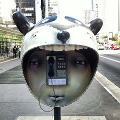Sau Paulo has a great pay phone instillation art show going on in the streets