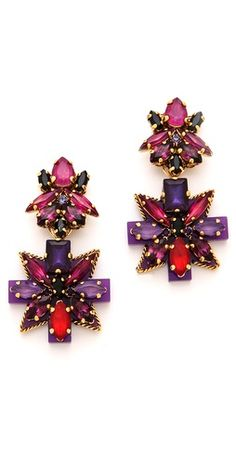 erickson beamon crystal earrings. gorgeous!