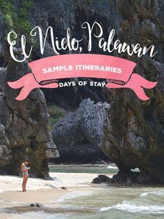 El Nido Palawan Sample Itineraries