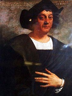 This is a picture of Christopher Columbus. During the Atlantic Age of Exploration, Christopher Columbus founded the New World in I chose this picture so that the viewer can know who founded North America. Ancient World History, Us History, Pictures Of Christopher Columbus, Native American Photos, American History, Common White Girl, Unique Facts, Age Of Empires, Renaissance Paintings