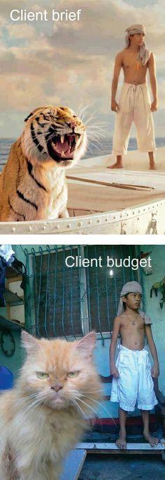 Client brief vs. Client budget