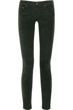 MotherThe Looker low-rise stretch-corduroy skinny jeans