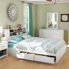 Queen Beds For Teenage Girls ... /Storage Be...