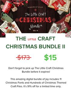 The Little Christmas Craft Bundle II includes 11 Christmas Fonts and hundreds of Christmas Themed Craft Files. Best Serif Fonts, Script Fonts, Typography Fonts, Hand Lettering, Cute Fonts, Pretty Fonts, Christmas Fonts, Christmas Crafts, Word Art Fonts