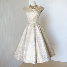 for crystal? vintage 1950s dress ...never worn dior inspired SUZY by traven7
