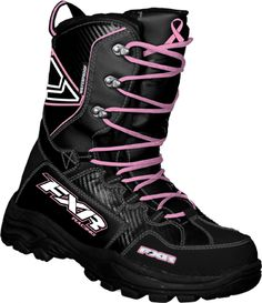 FXR Women's X CROSS Boots - Black-Pink - Snowmobile Gear - these are the boots I'm buying in a couple weeks for this years snowmobiling season. Love em!